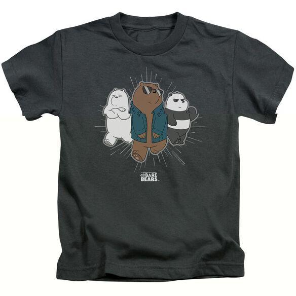 We Bare Bears Jacket Short Sleeve Juvenile Charcoal T-Shirt