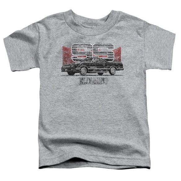 Chevrolet El Camino Ss Mountains Short Sleeve Toddler Tee Athletic Heather T-Shirt