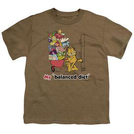 Garfield Balanced Diet Short Sleeve Youth Safari T-Shirt