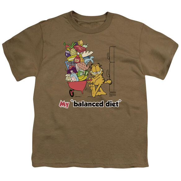Garfield Balanced Diet Short Sleeve Youth Safari T-Shirt