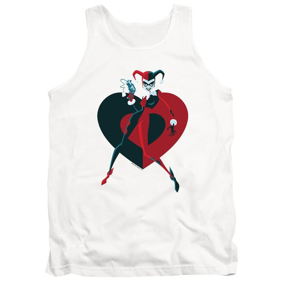 Batman Harely Heart - Adult Tank - White