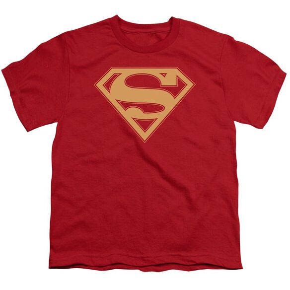 Superman & Gold Shield Short Sleeve Youth T-Shirt