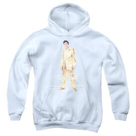 Elvis Presley Gold Lame Suit Youth Pull Over Hoodie