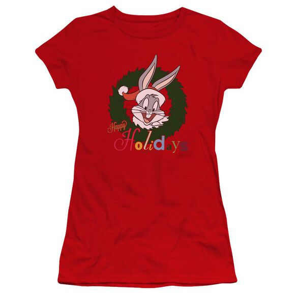 Looney Tunes Holiday Bunny Hbo Short Sleeve Junior Sheer T-Shirt