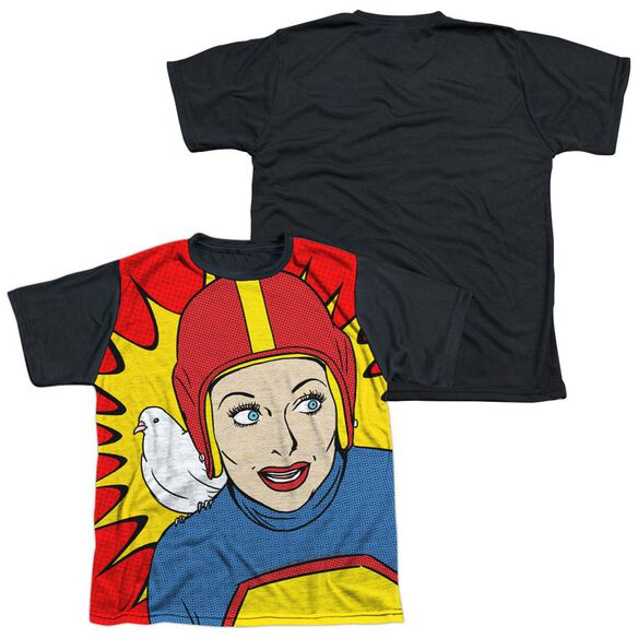 I Love Lucy Super Lucy Short Sleeve Youth Front Black Back T-Shirt