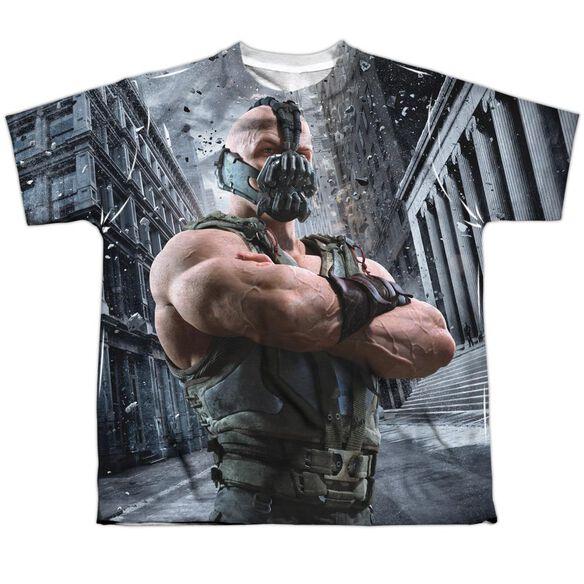 Dark Knight Rises Occupy Gotham Short Sleeve Youth Poly Crew T-Shirt