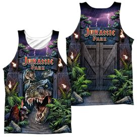 Jurassic Park Welcome To The Park - Adult 100% Poly Tank Top - White