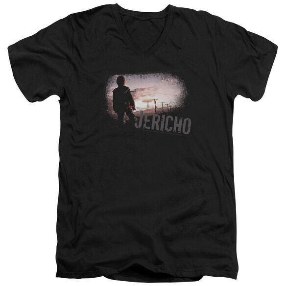 JERICHO MUSHROOM CLOUD - S/S ADULT V-NECK - BLACK T-Shirt