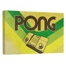 Atari Pong Lines Canvas Wall Art With Back Board