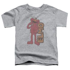 Sesame Street Vintage Elmo Short Sleeve Toddler Tee Athletic Heather T-Shirt