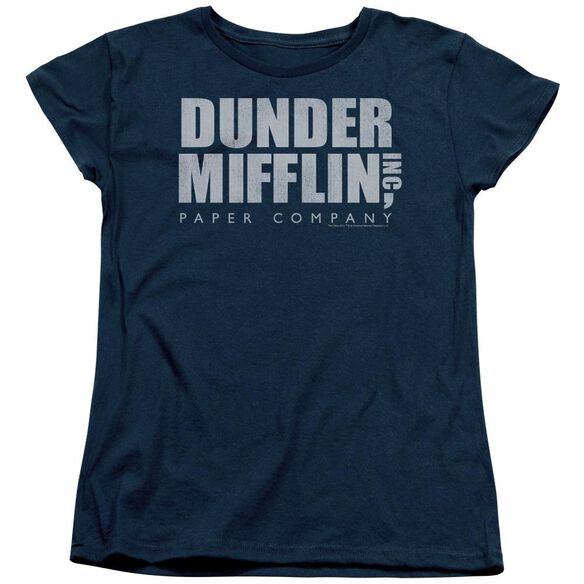 The Office Dunder Mifflin Distressed Short Sleeve Womens Tee T-Shirt