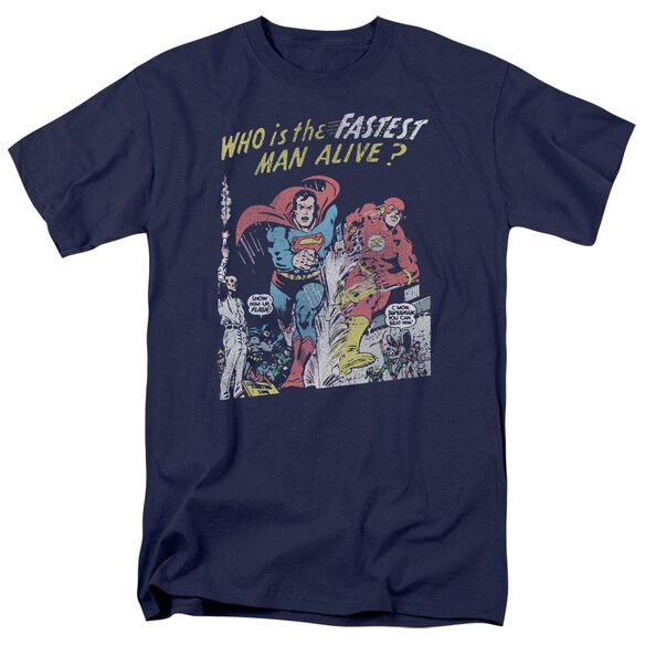 Jla Fastest Man Short Sleeve Adult T-Shirt