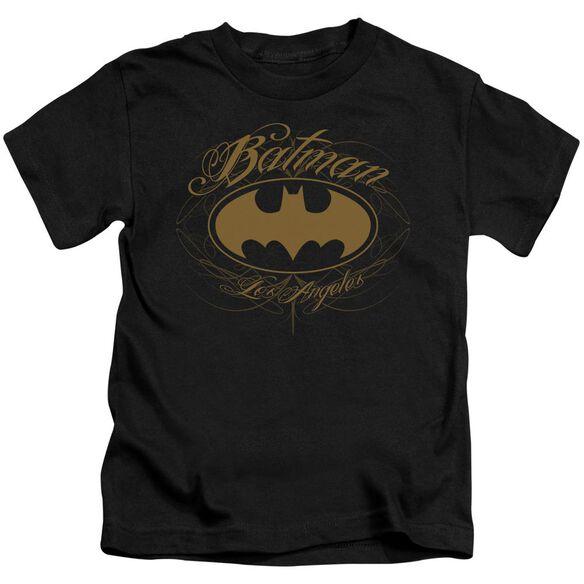 Batman Batman La Short Sleeve Juvenile Black T-Shirt