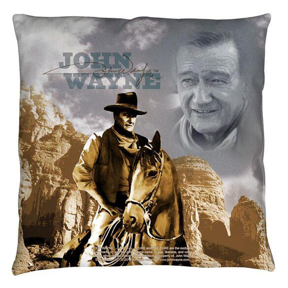 John Wayne Ride Em Cowboy Throw Pillow