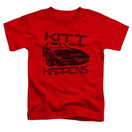 Knight Rider Kitt Happens Short Sleeve Toddler Tee Red Sm T-Shirt