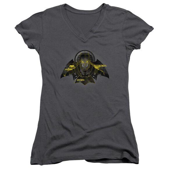 Batman V Superman Batman Tech Junior V Neck T-Shirt
