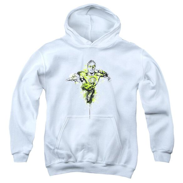 Green Lantern Inked Youth Pull Over Hoodie