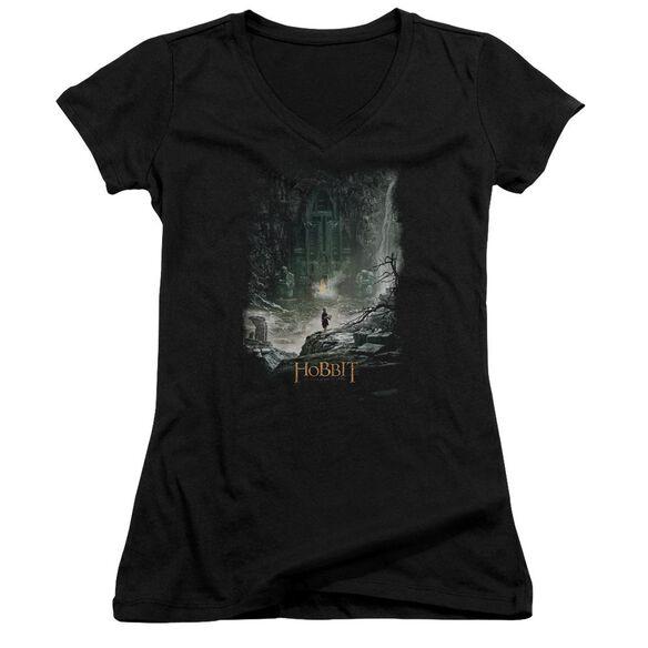 Hobbit At Smaug's Door Junior V Neck T-Shirt
