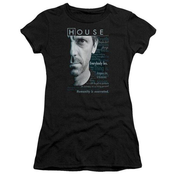 House Houseisms Short Sleeve Junior Sheer T-Shirt