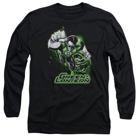 Jla Green Lantern Green & Gray Long Sleeve Adult T-Shirt