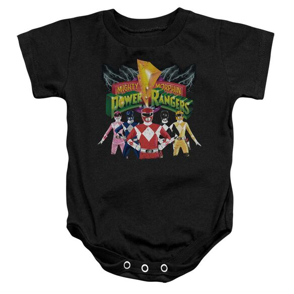 Power Rangers Rangers Unite Infant Snapsuit Black