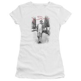Dean Street Distressed Short Sleeve Junior Sheer T-Shirt