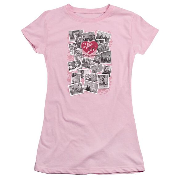 I Love Lucy 65 Th Anniversary Short Sleeve Junior Sheer T-Shirt