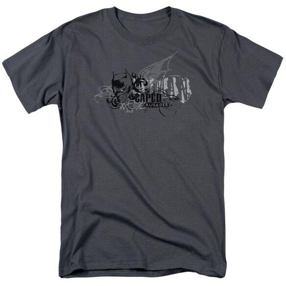 Batman Urban Crusader Short Sleeve Adult Charcoal T-Shirt