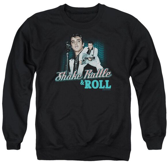 Elvis Shake Rattle & Roll Adult Crewneck Sweatshirt