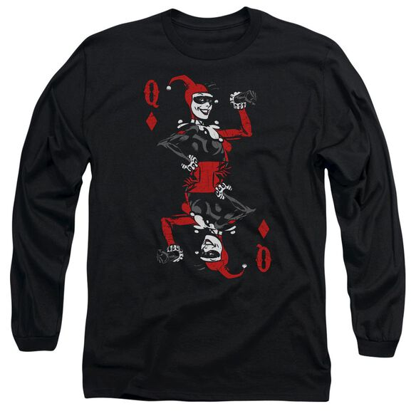 Batman Quinn Of Diamonds Long Sleeve Adult T-Shirt