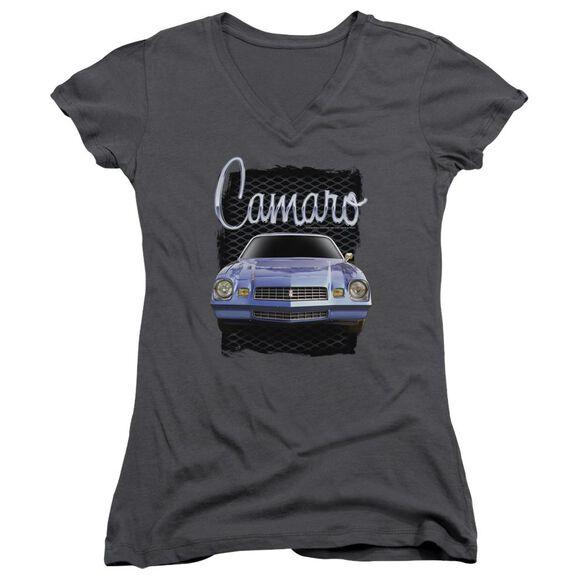 Chevrolet Yellow Camaro Junior V Neck T-Shirt