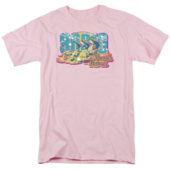 90210 Beach Babes Short Sleeve Adult Pink T-Shirt