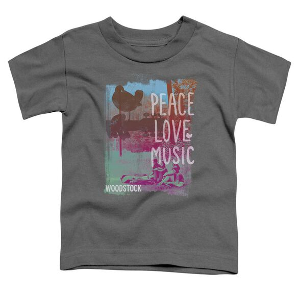 Woodstock Plm Short Sleeve Toddler Tee Charcoal T-Shirt