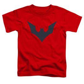 Batman Beyond Beyond Bat Logo Short Sleeve Toddler Tee Red Sm T-Shirt