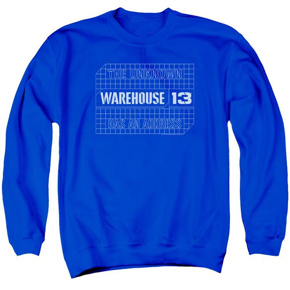 Warehouse 13 Blueprint Logo Adult Crewneck Sweatshirt Royal