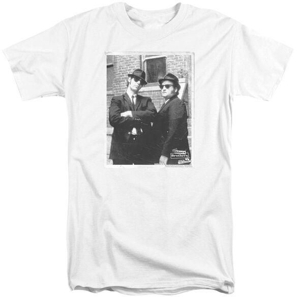 Blues Brothers Brick Wall Short Sleeve Adult Tall T-Shirt