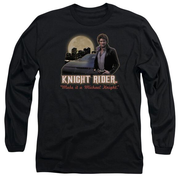 Knight Rider Full Moon Long Sleeve Adult T-Shirt