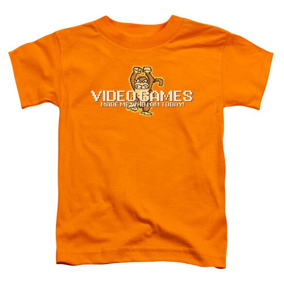 Video Games Short Sleeve Toddler Tee Orange T-Shirt