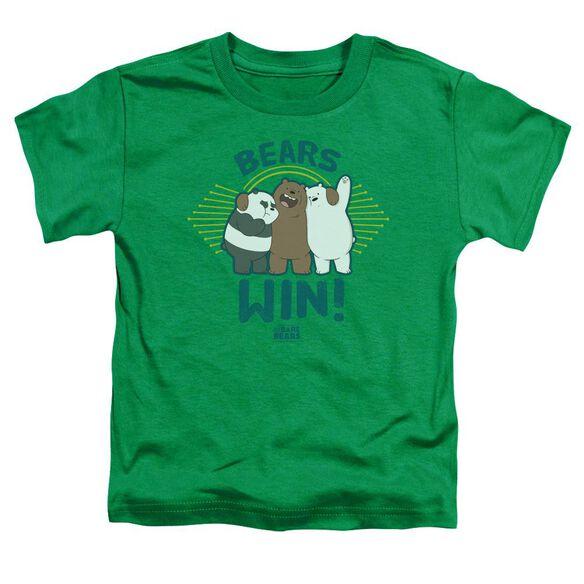 We Bare Bears Bears Win Short Sleeve Toddler Tee Kelly Green T-Shirt