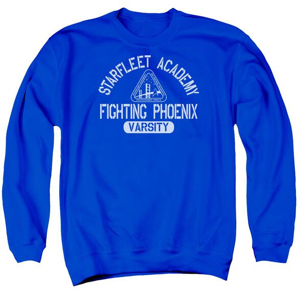 Star Trek Varsity Adult Crewneck Sweatshirt Royal