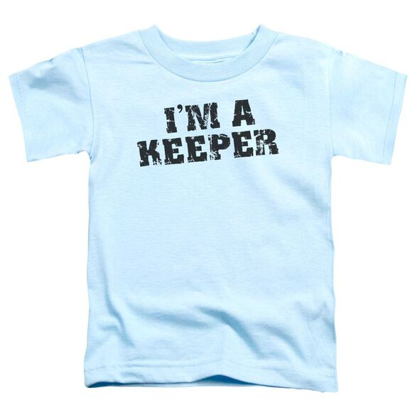 I'm A Keeper Short Sleeve Toddler Tee Light Blue Sm T-Shirt