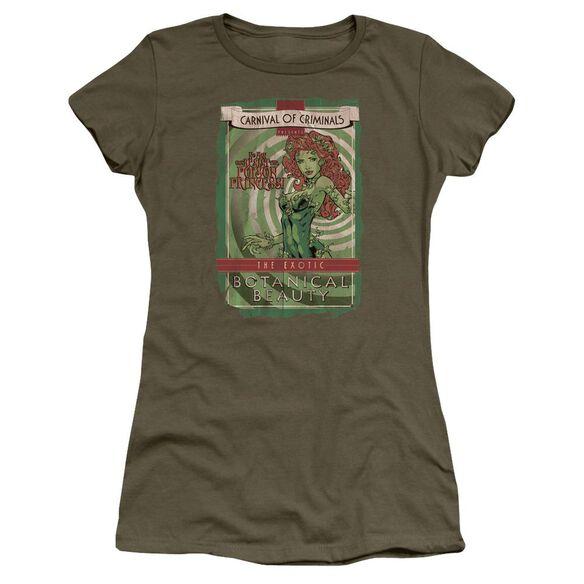 Batman Botanical Beauty Short Sleeve Junior Sheer Military T-Shirt