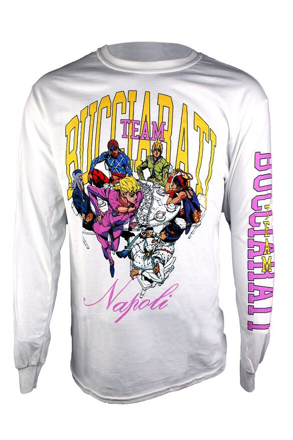 Jojo's Bizarre Adventure Team Bucciarati Napoli Long Sleeve T-Shirt
