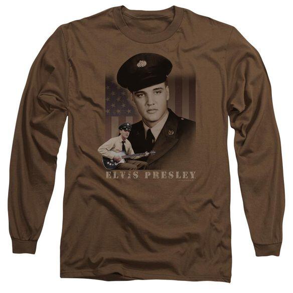 Elvis Presley Gi Elvis Long Sleeve Adult T-Shirt