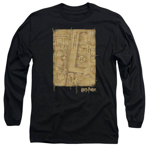 Harry Potter Marauders Map Interior Long Sleeve Adult T-Shirt