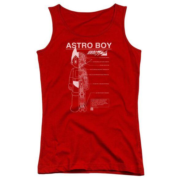 Astro Boy Schematics Juniors Tank Top