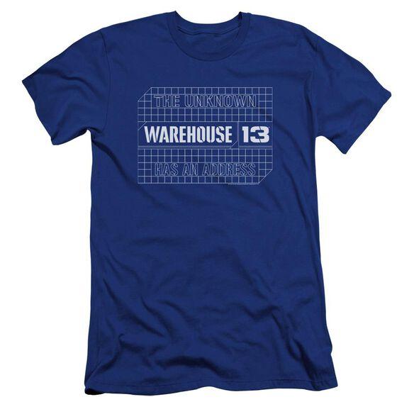 Warehouse 13 Blueprint Logo Premuim Canvas Adult Slim Fit Royal