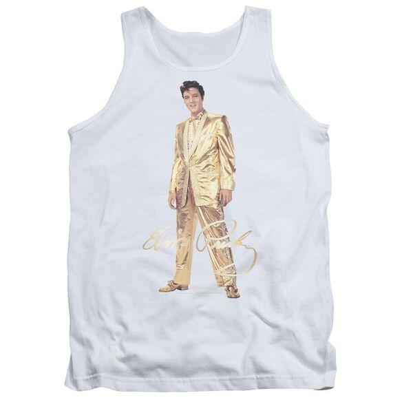 Elvis Gold Lame Suit Adult Tank