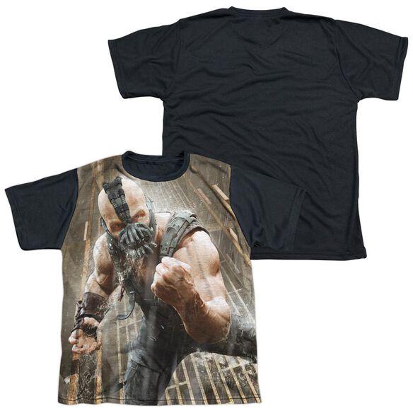 Dark Knight Rises Rain Rage Short Sleeve Youth Front Black Back T-Shirt