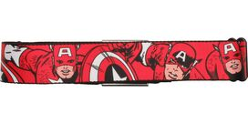 Captain America Poses Red Seatbelt Mesh Belt